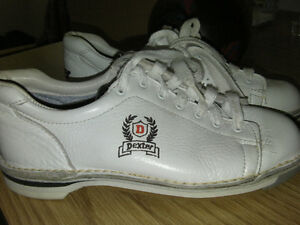 Used Dexter bowling shoes 6M & Two 5 pin bowling balls.