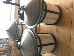 Set of 3 Outdoor lights for your home- excellent condition