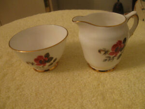 DELICATE LITTLE VINTAGE 2-Pc. MATCHING CHINA CREAM & SUGAR