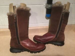 Women's Columbia Tall Leather Winter Boots Size 11 London Ontario image 6