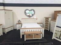 Cream and oak bedroom furniture
