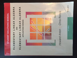 Solution manual elementary linear algebra kijiji in ontario buy elementary linear algebra student solution manual 11th edition fandeluxe Image collections