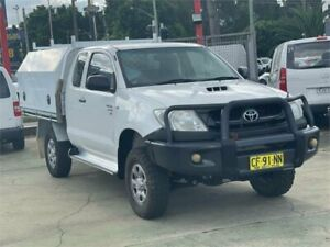 2011 Toyota Hilux KUN26R MY11 Upgrade SR (4x4) White 5 Speed Manual X Cab Cab Chassis Clyde Parramatta Area Preview