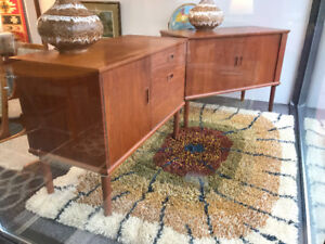 Mid century modern  small Teak Sideboards credenza buffets
