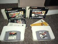 N64- F1 World Grand Prix 1&2 (boxes and manuals)