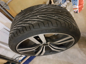 """22"""" WHEELS WITH BRAND NEW TIRES BMW X5 X6"""