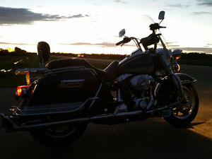 harley road king in excellent shape