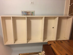 7 foot tall solid bookcase.