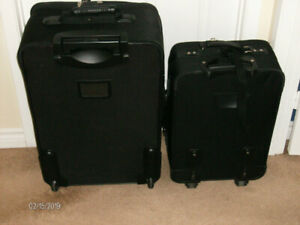Set of 2 Wheeled Suitcases and Garment Bag Like New