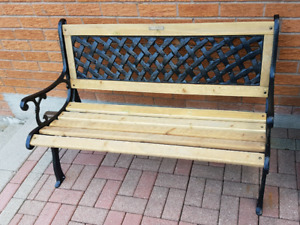 Cast iron wrough iron bench