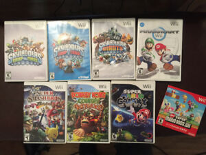 Wii with  games and Skylanders