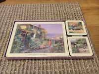 County garden/ cottage placemats and coasters