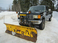 1991 Ford F-250 Pickup Truck with Fisher Plow