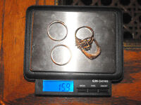4 solid 14k Yellow gold rings wieght 16 grams $600 OBO
