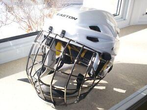 Casque Easton E700 blanc + grille Neuf Combo Helmet New white.