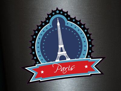 1 x Aufkleber Paris Sterne Sticker Stadt City Fun Gag Decal Static Club Liebe (Paris Aufkleber)