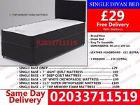 Brand New Single Divan Bed Available with Mattress Greenwood