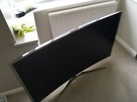 """Samsung 4K UHD Curved TV, 55""""' immaculate was £3099 when released, 4 years warranty remains"""