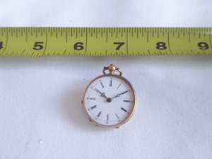 Gold Ladies pocket watch (France?)
