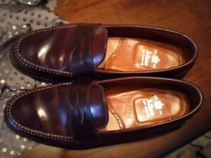 $1600 Alden Shell Cordovan Penny Loafer 10