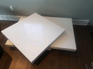 Contemporary White Swivel Coffee table