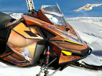Custom Designed Sled Wraps and Graphics