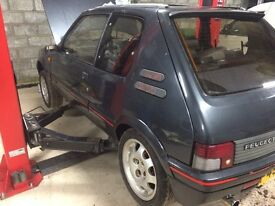 Peugeot 205 gti mi16 engine barn find project swap considered