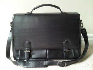Pierre Cardin Black Leather Business Bag London Ontario image 1