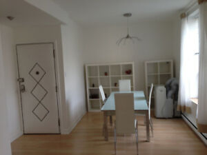 4 1/2 furnished near Concordia, available October 1st