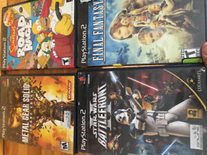 Sony PlayStation 2 Game Lot - simpsons, f fantasy , m gear, Star