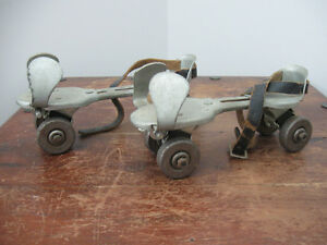 Vintage, metal, adjustable roller skates