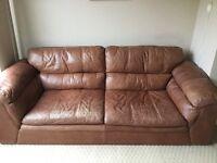 Leather 2/3 seater sofa