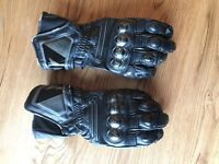 Dainese Carbon leather motorcycle gloves