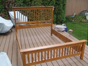 Nice solid wood Queen bed frame