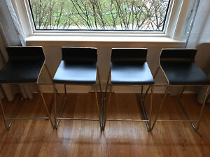 Set of four Ikea bar height chairs/stools