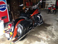 MOTO HONDA SHADOW AERO 1 100 cc 2003 ORANGE ET NOIRE