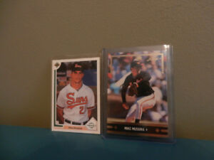 Upper Deck,Leaf Mike Mussina Rookie Cards Lot of 2 Mint HOF