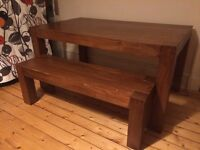Dinning table with wooden bench- NOW GONE