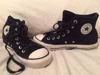 Converse - Suede Fur Lined All Star Hi Tops, Size 4