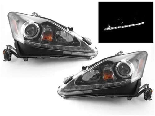 True Oe Style Jdm Black Led Drl Projector Headlight For 06-13 Lexus Is250/is350