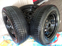 195/65R15 Michelin xi3 winter tires rims, in excellent condition