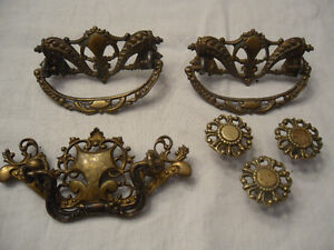 furniture hardware - 3 pulls and 3 knobs