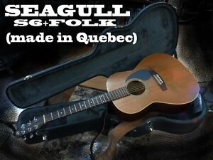 SEAGULL S6+FOLK ACOUSTIC, CASE, STRAP, EXTRA SET NEW STRINGS