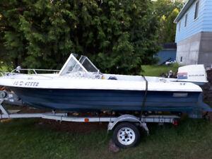 bateau open deck 14 pied
