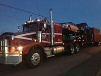 Tractor Trailer hauling vehicles and furniture From CB to AB