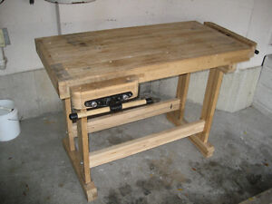 Woodworker's Bench - Solid Maple w/tail and side vises Kitchener / Waterloo Kitchener Area image 1