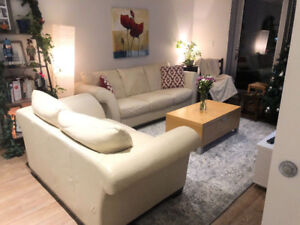 Beautiful White Leather Couches