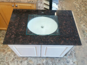 New bathroom vanity with granite top for sale - size 35.5 inches