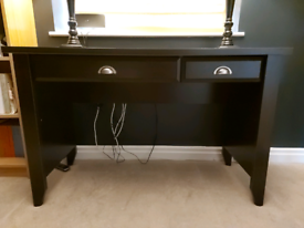 Dark Oak Veneer 2 drawer desk