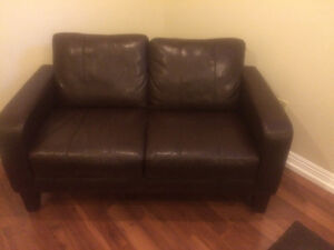 Genuine Bonded Leather Couch, love seat, chair